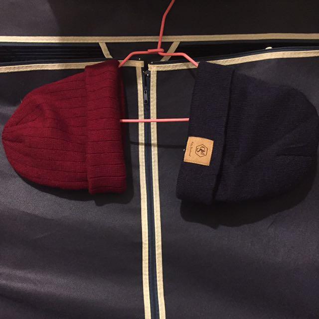 全新毛帽*2