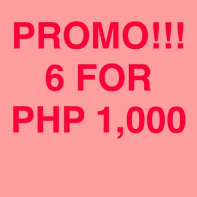 6 TOPS FOR PHP 1,000