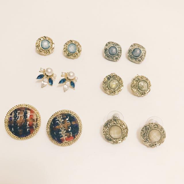 全新復古精工寶石耳環
