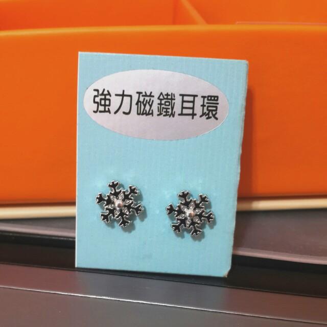 磁鐵耳環(雪花)