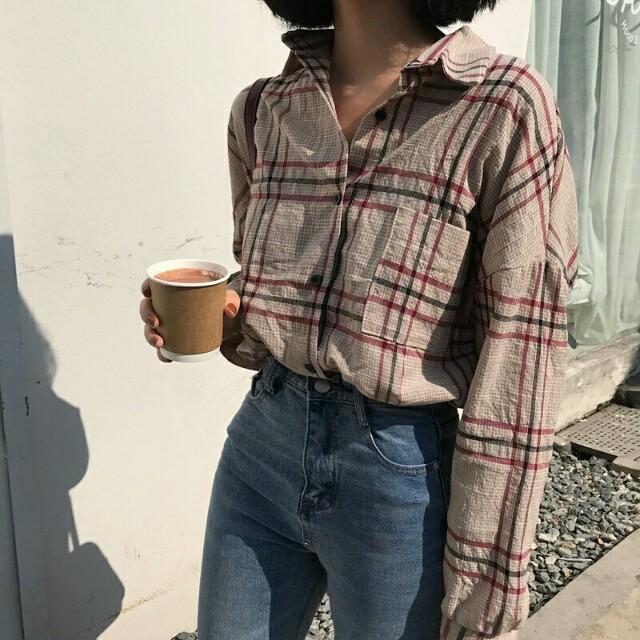 【預購】棉麻格紋襯衫