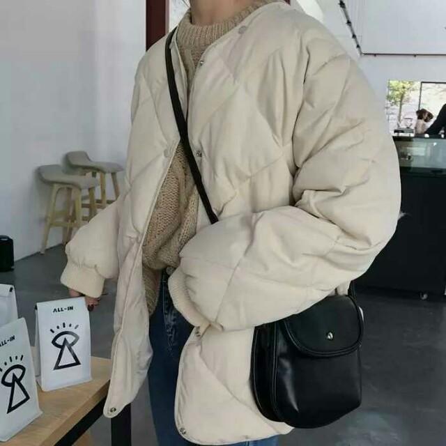 【現貨】菱格可拆帽棉外套
