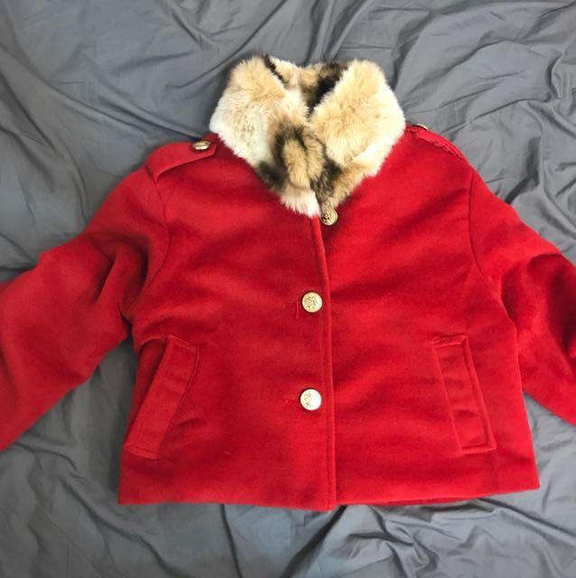 國外購入毛領外套