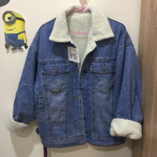 羊羔絨牛仔外套 原價890