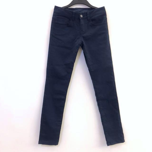 深藍色 彈性 長褲
