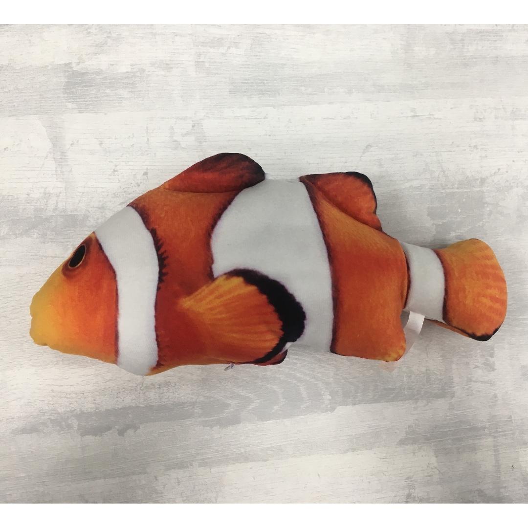 貓咪最愛 貓薄荷魚玩具 貓草抱枕 有拉鍊/ 小丑魚 30公分
