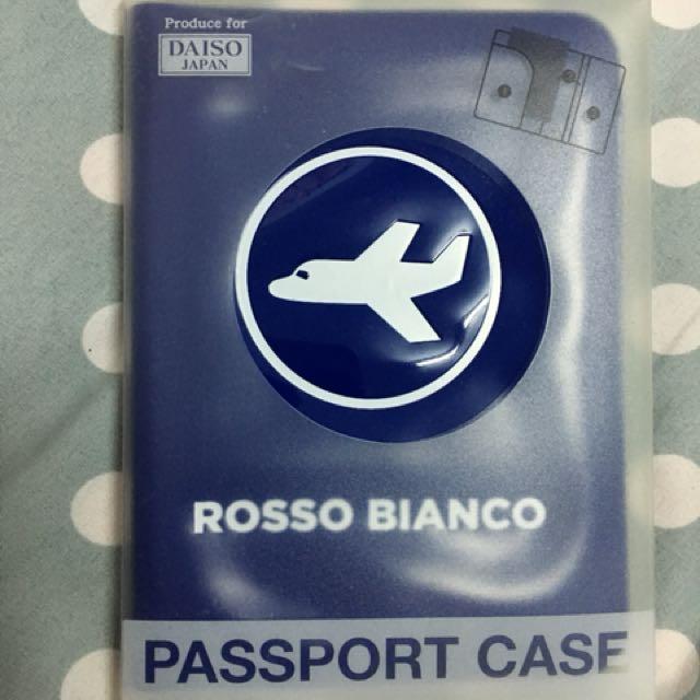 大創 護照盒 護照夾 深藍色 深藍 旅行 出國 全新