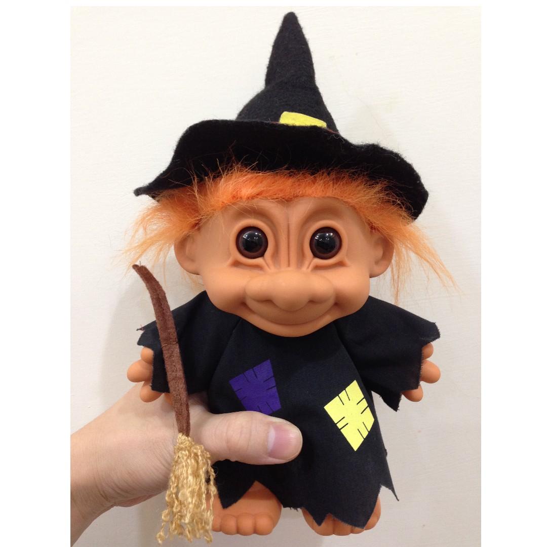 [放大版] 幸運小子 (萬聖節限定- 醜巫婆)醜娃、巨魔娃娃、醜妞、Troll Doll、魔髮精靈