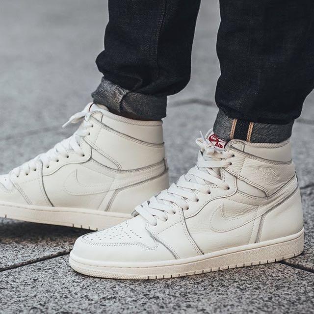 "new arrival cf8e2 f2b12 Nike Air Jordan 1 Retro High OG ""Premium Essentials"" Pack (Sail Black),  Men s Fashion, Footwear on Carousell"