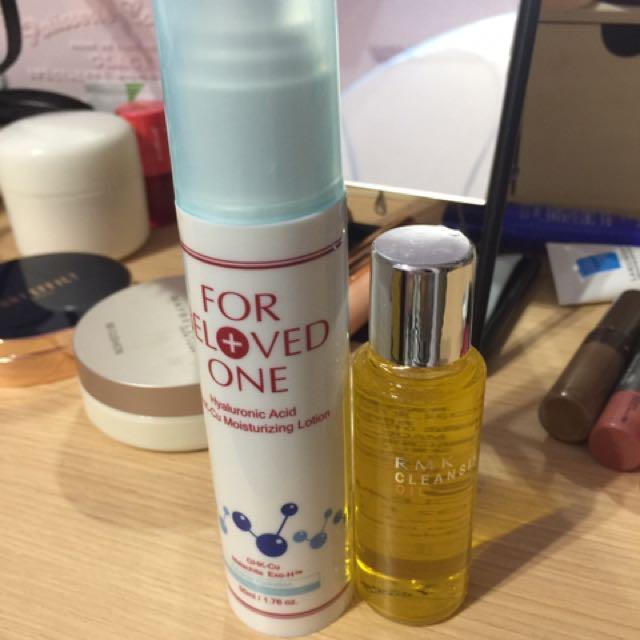 醫美品牌 藍銅玻尿酸乳液+rmk卸妝油