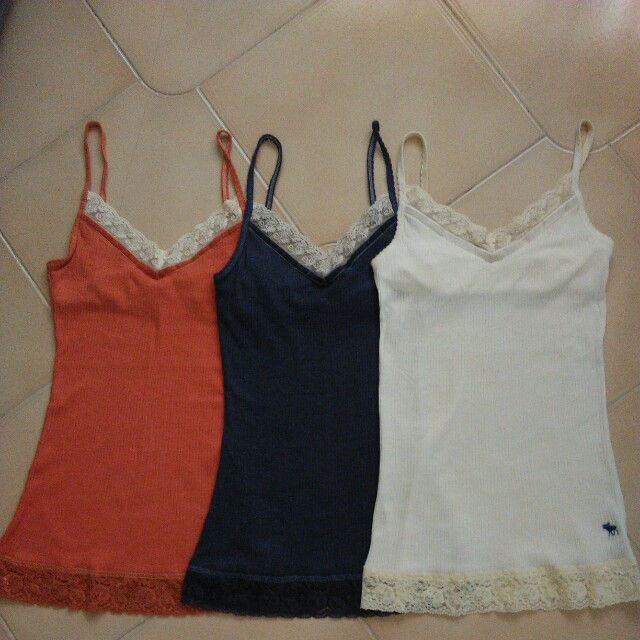cf1c6525c94e5 Abercrombie ribbed lace cami tops