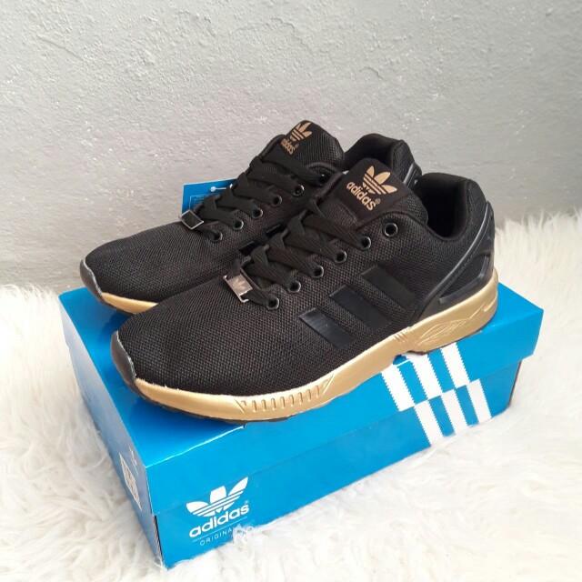 the latest 2519c 652d7 best price adidas zx flux blue gold 033d2 aba25