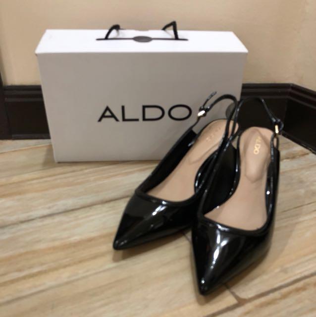 Aldo Black Slingback Pumps