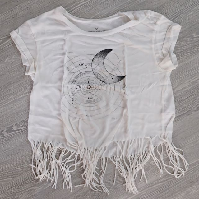 American Eagle Fringe Top