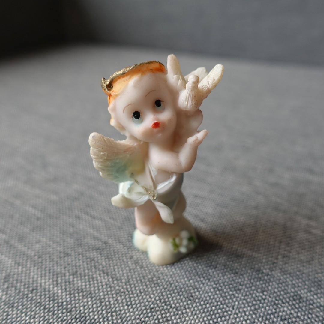 Angel with Bird Figurine