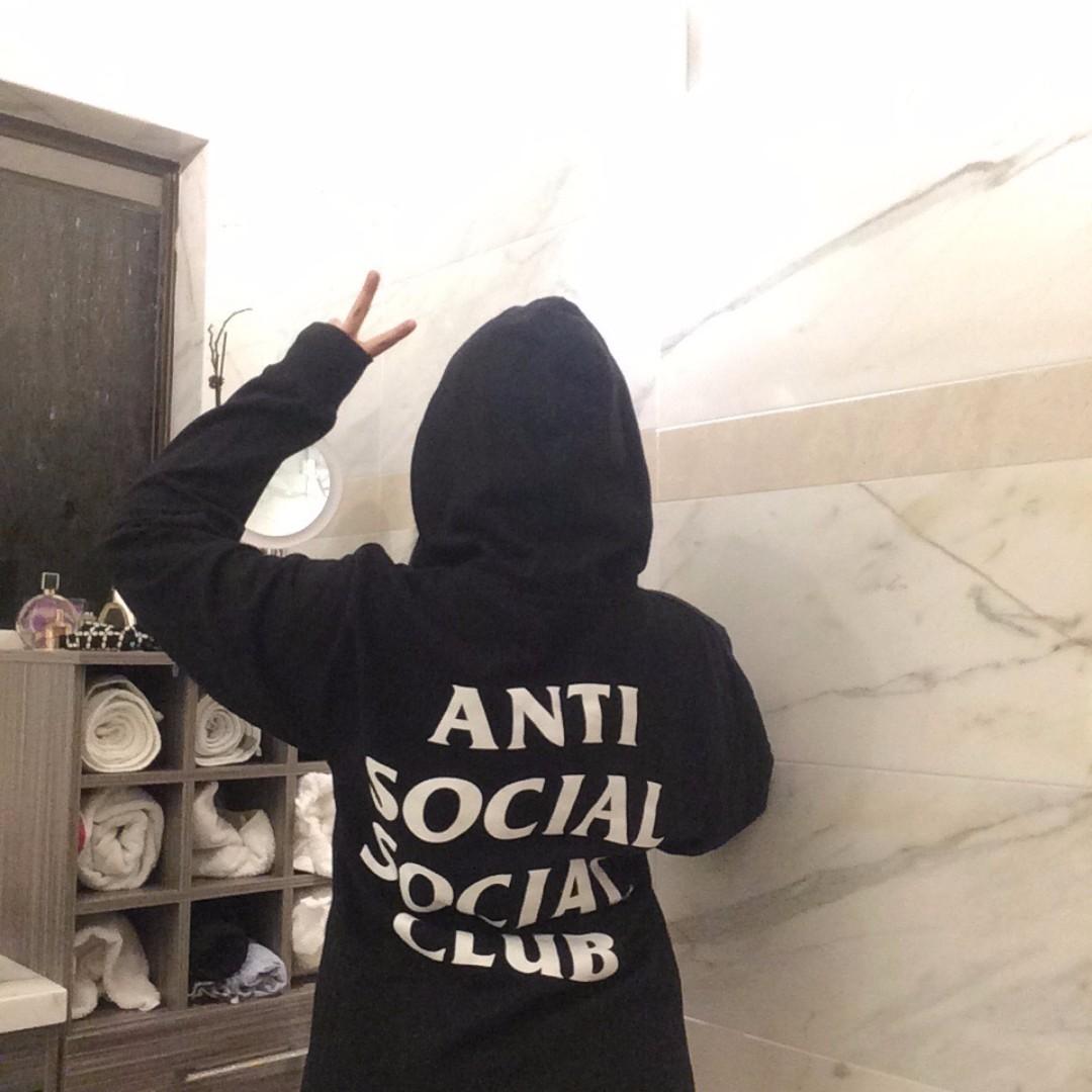 AUTHENTIC Anti social social club (assc) black hoodie