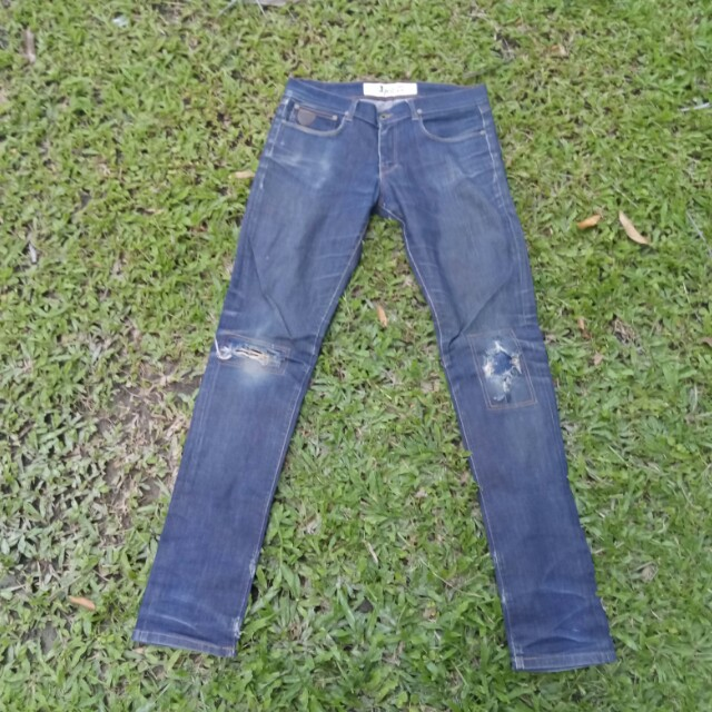 April 77 damage jeans