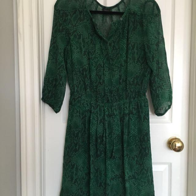 Aritzia Babaton Theo Silk Dress | Emerald S