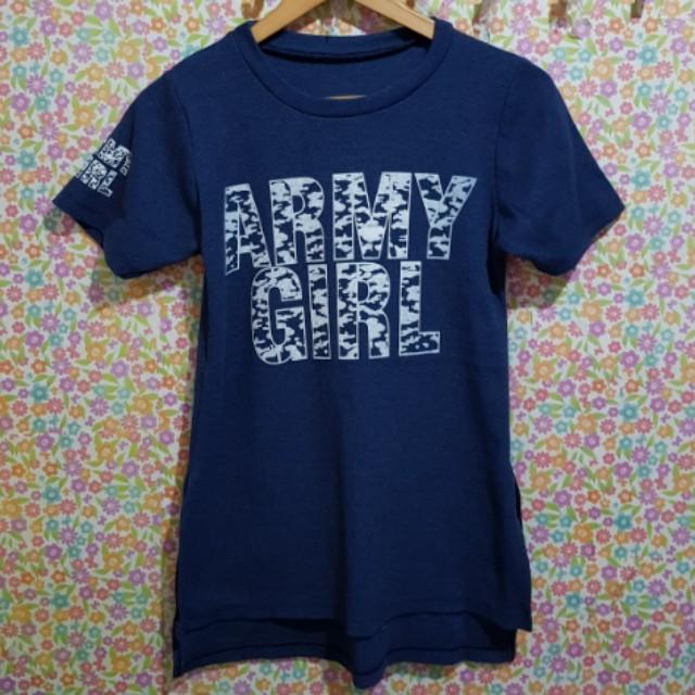 Army girl long top