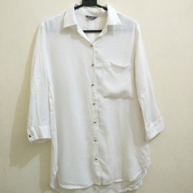 DETAILS White Top Shirt (blouse atasan putih)