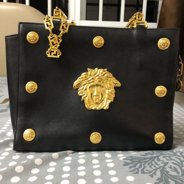74a1ac5d12 Authentic Gianni Versace Medusa Bag, Women's Fashion, Bags & Wallets ...