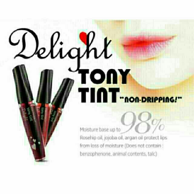 💯%AUTHENTIC TONY MOLY Delight Lip Tint, Preloved Health & Beauty, Makeup on Carousell