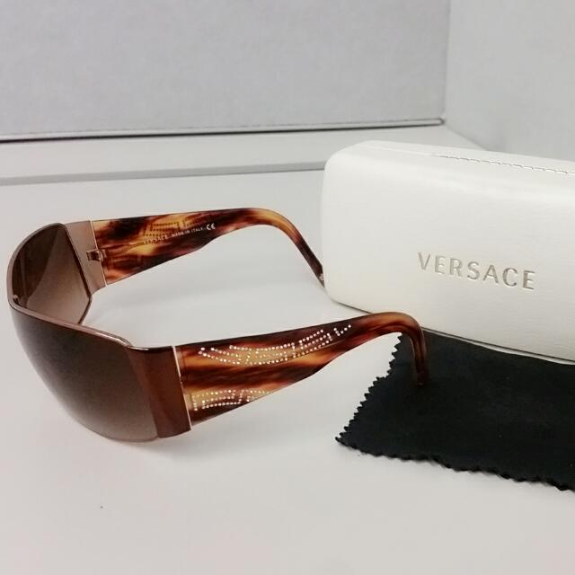 Authentic Versace sunglasses with Swarovski crystals MOD2081B RP$400