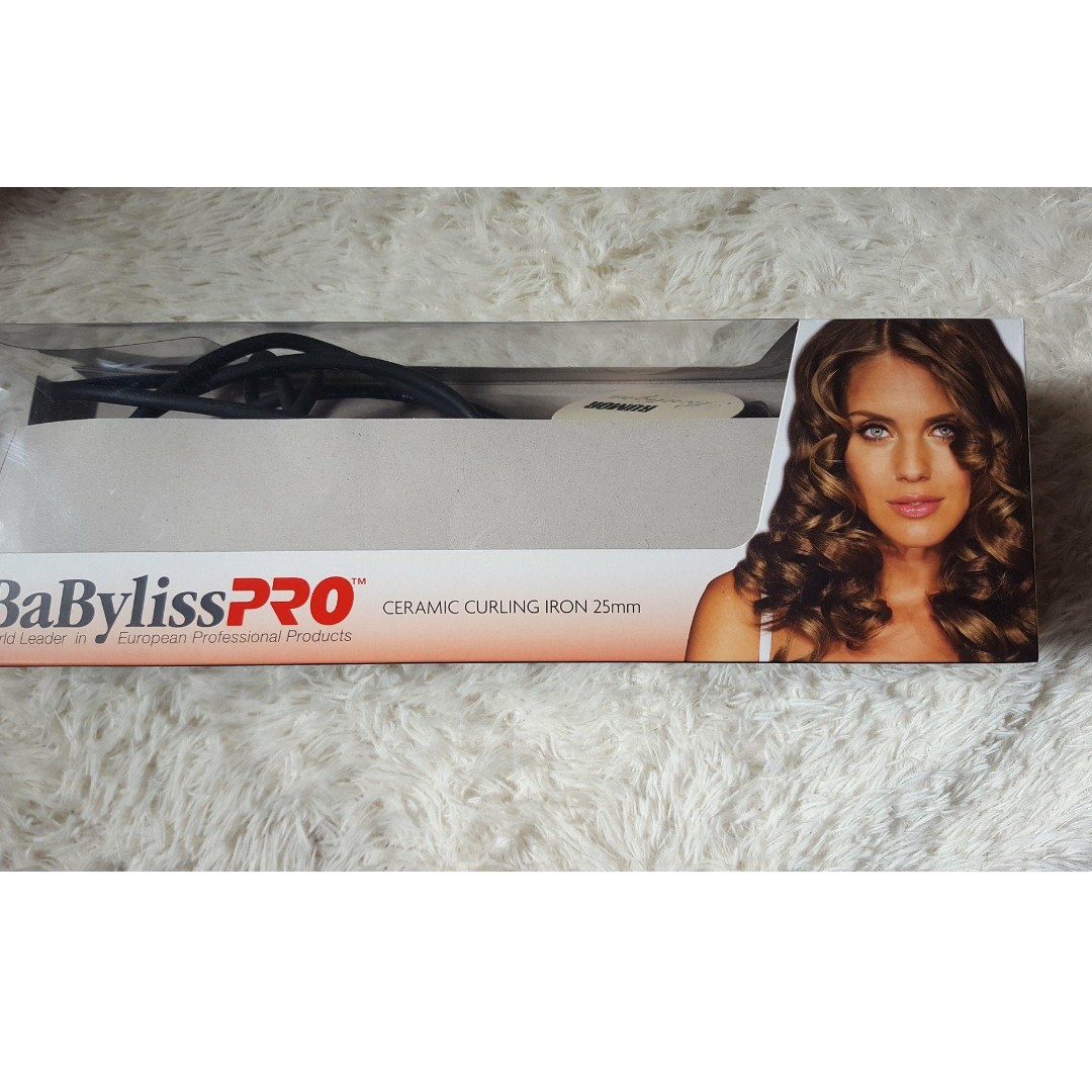 Babyliss PRO Ceramic Curling Iron Wand 25mm - NEW used once