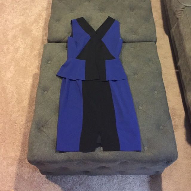 BCBG midi peplum dress