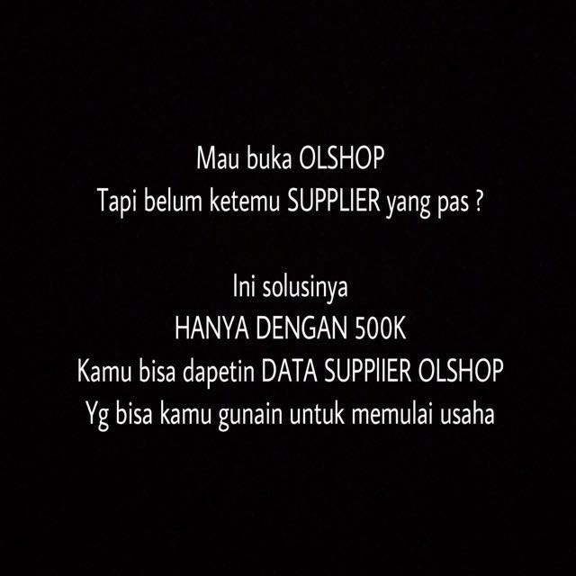 BERBAGI NAMA2(DATABASE) SUPPLIER OLSHOP