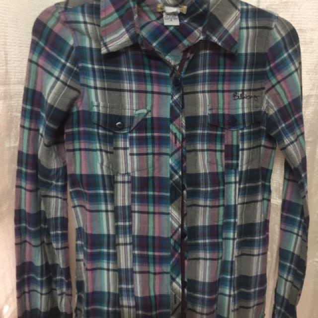 Billabong Checkered Long Sleeves - Small