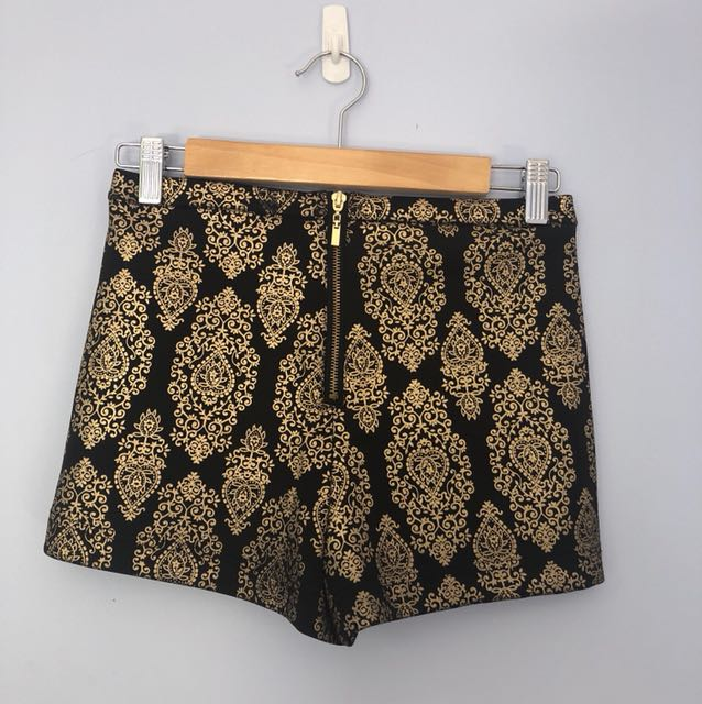 Black and gold booty shorts