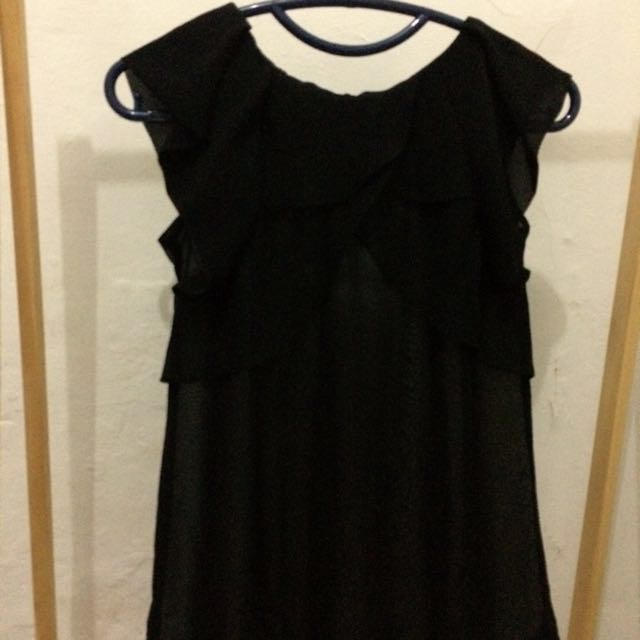 Black Frilly Top
