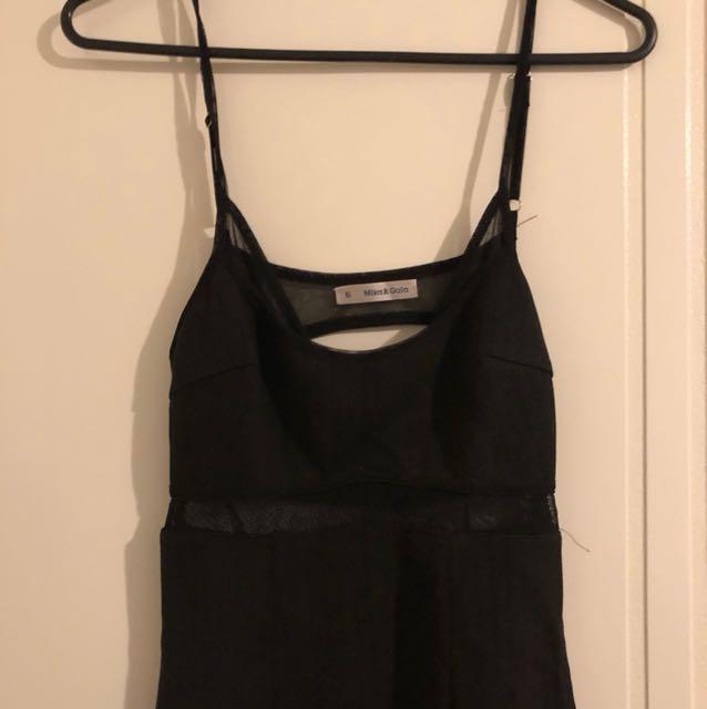 Black Sheer Panel Dress