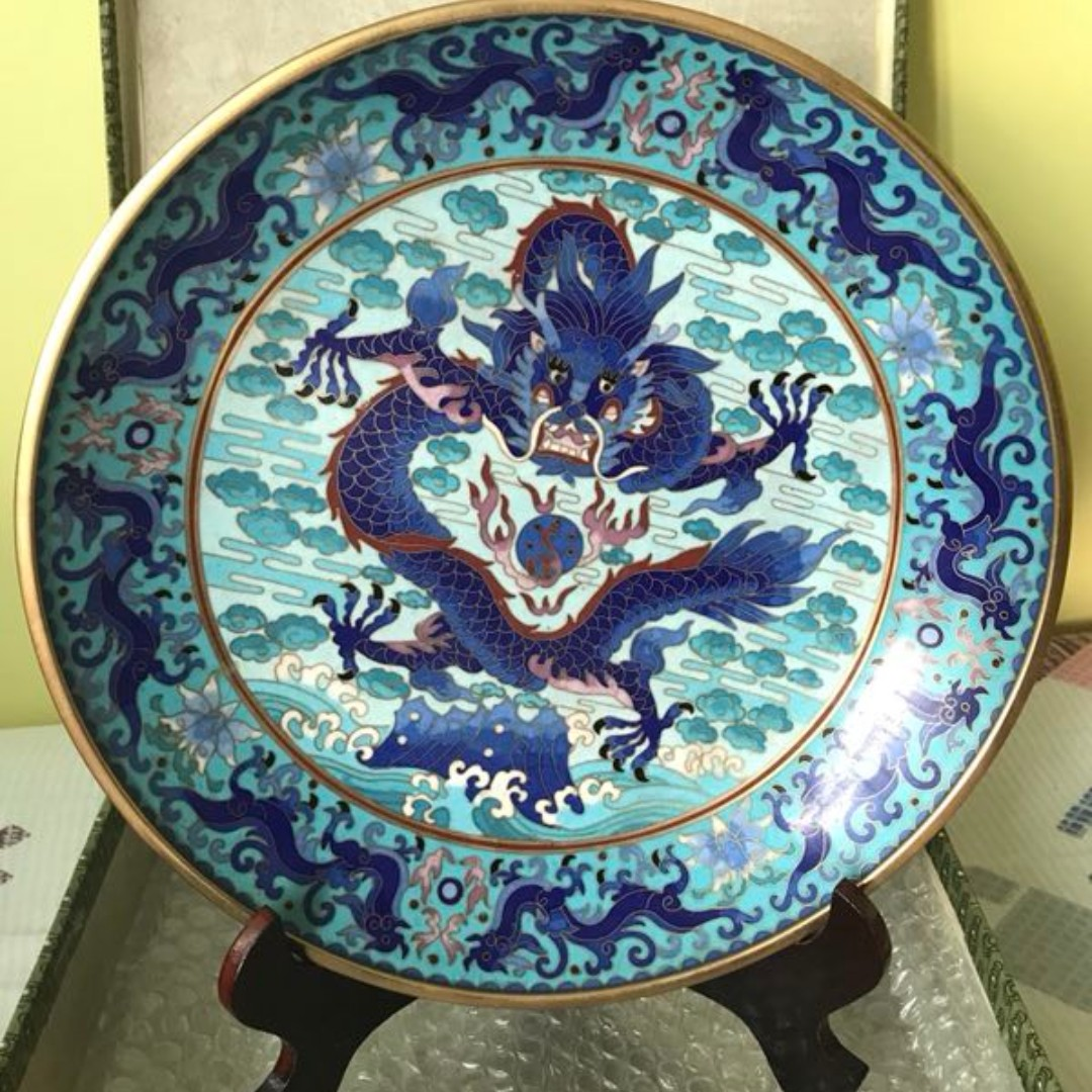 Blue Dragon China Display Plate