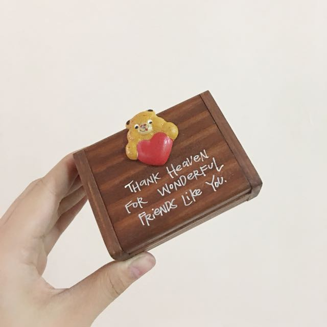 Blue Magic wooden Container