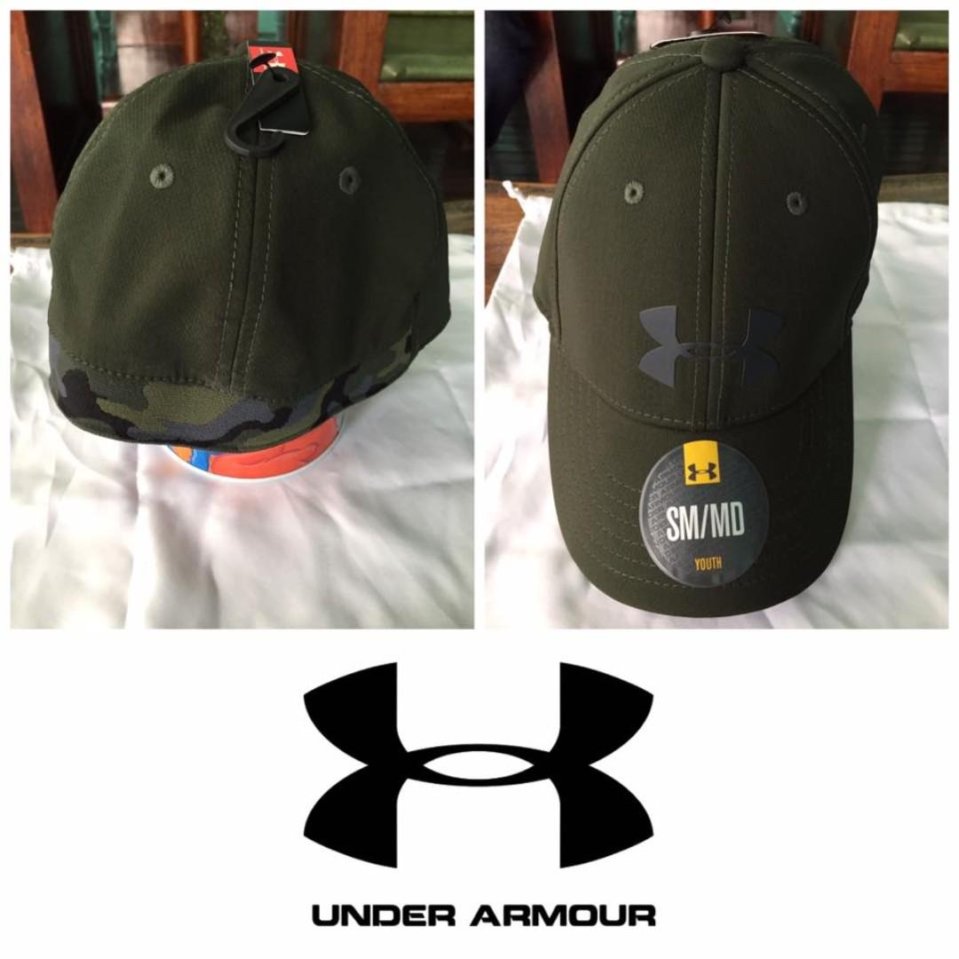6ee940f786c BN UNDER ARMOUR Camo Cap 2.0 Boys  Stretchfit Headwear