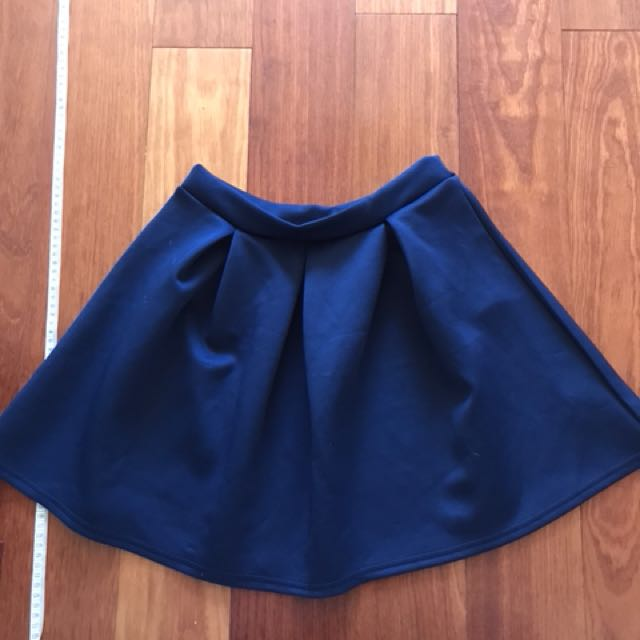 BOOHOO Navy Skirt