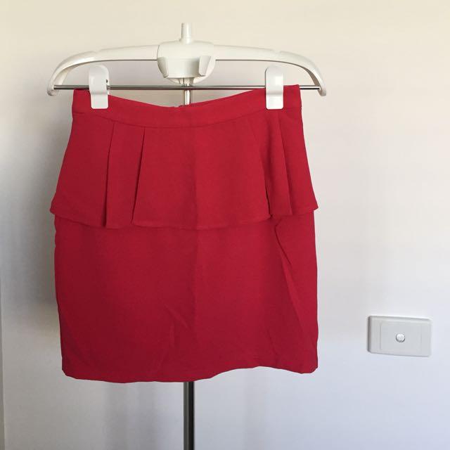 BRAND NEW Pinkish/Red Pleated Skirt