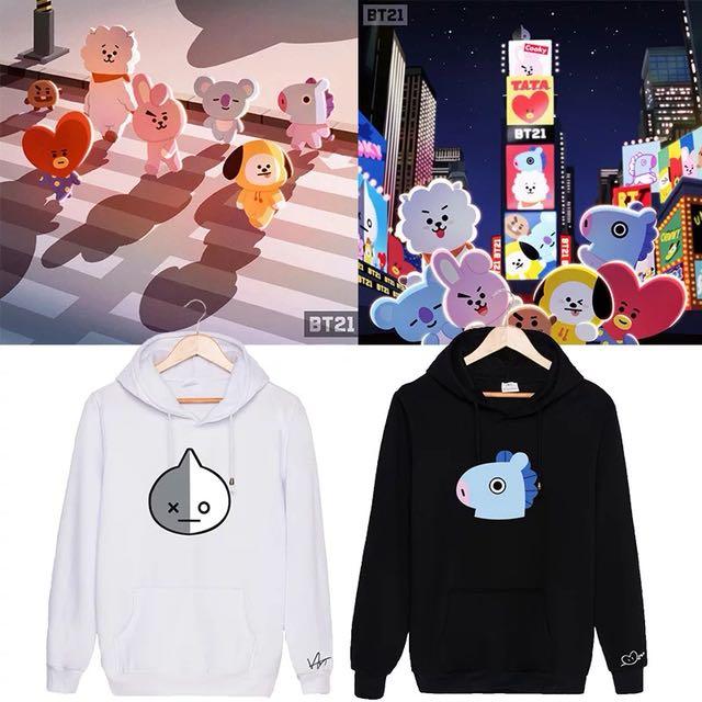 BTS endorsed cartoon jackets, Entertainment, K-Wave on Carousell