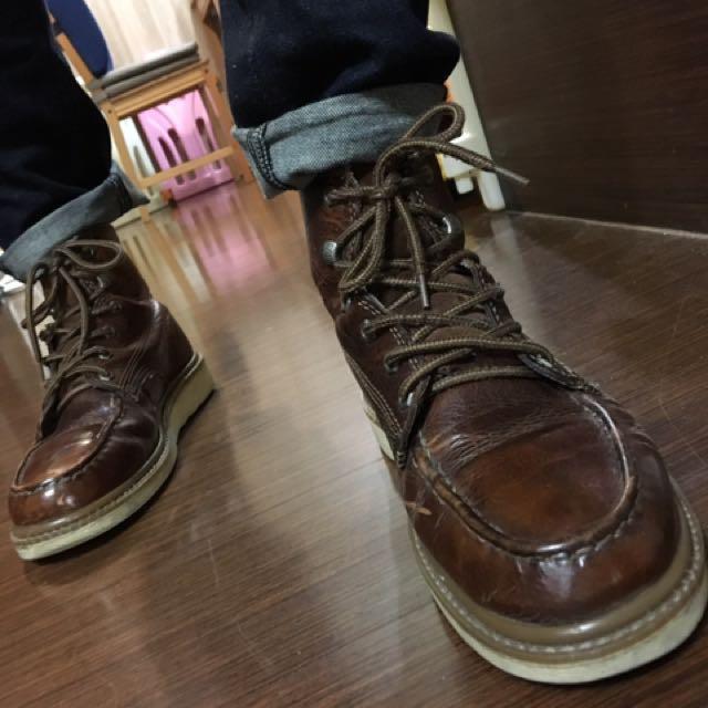 (二手)CAT棕色靴 42.5