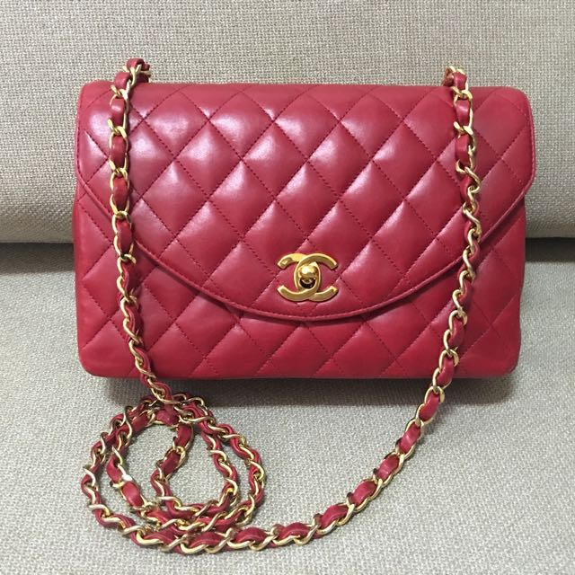 Chanel 香奈兒 紅色 羊皮