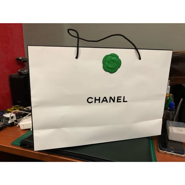 eca5fffc75ad Chanel Paper Bag With Camellia Flower Stamp, Women's Fashion, Bags ...