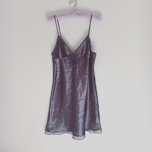 Charcoal Grey Slip Dress
