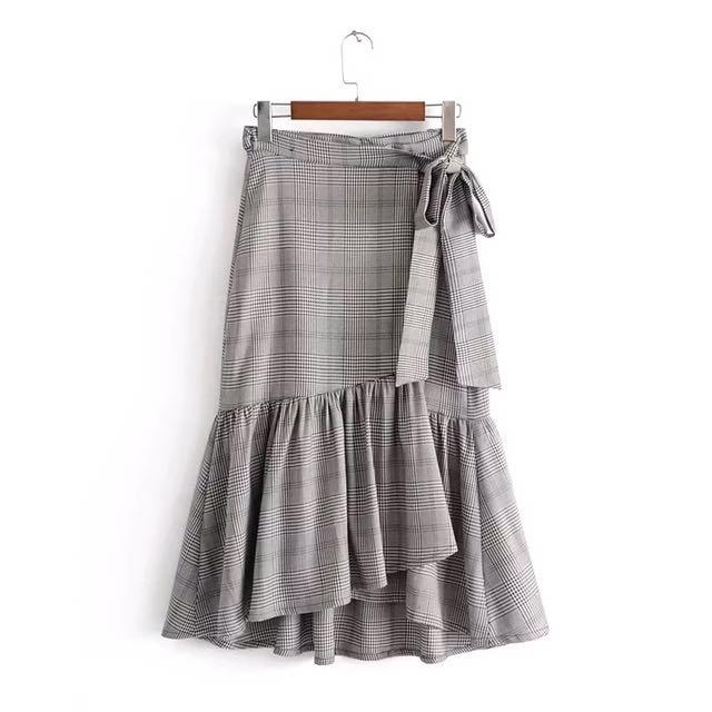 Checkered Mermaid Skirt