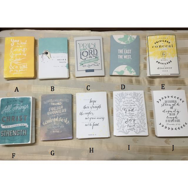 Christian Verses/Quotes Postcards (100Verses1Heart) - Some OOS