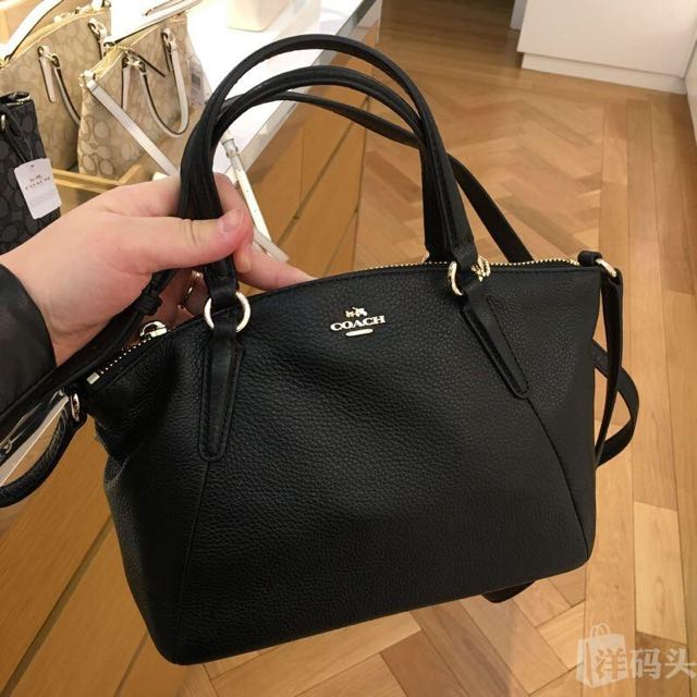 Coach kelsey mini satchel black leather