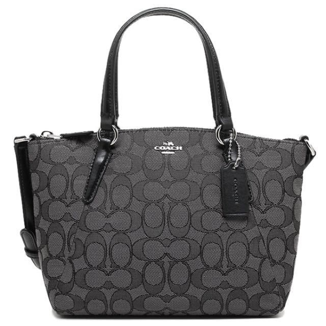 Coach Mini Satchel smoke black