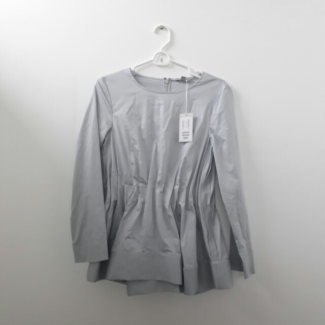 COS Gray Blouse