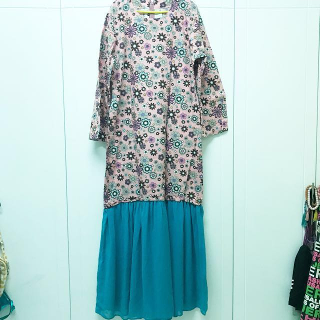 Cotton+chiffon dress #MIDJAN55